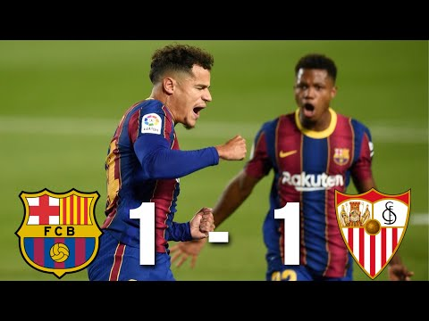Barcelona vs Sevilla [1-1], La Liga 2020/21 - MATCH REVIEW