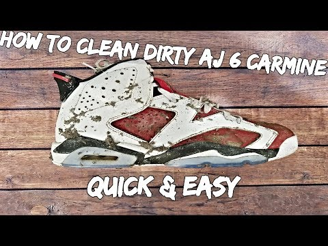 How To Clean Dirty AJ 6 Carmine Quick And Easy