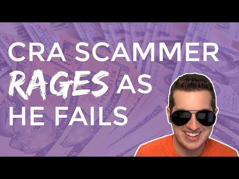 Angry CRA Tax Scammer Rages When He Fails