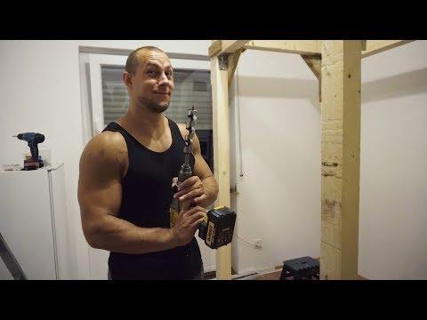 Farmers Gym Strongman Training | Power Rack selber bauen aus Holz
