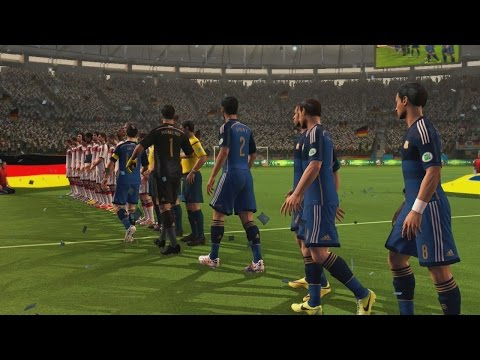 2014 Fifa World Cup Gameplay Xbox 360 - Argentina Vs Alemania, Partidazo
