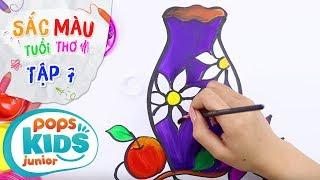 Sắc Màu Tuổi Thơ - Tập 7 - Bé Tập Vẽ Lọ Hoa | How To Draw A Vase of Flowers For Kids