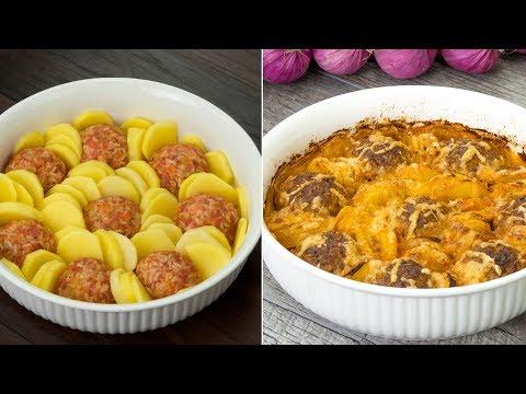 un-dîner-très-délicieux-!-boulettes-à-la-viande-et-au-riz-avec-des-pommes-de-terre-!-ǀ-savoureux.tv