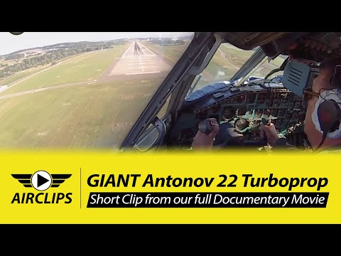MUST SEE! Captain Vova wrestling down his Antonov 22 for a PERFECT Landing in Zurich! [AirClips]