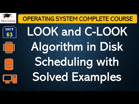 LOOK and C-LOOK Algorithm with Solved Example - Operating System Videos