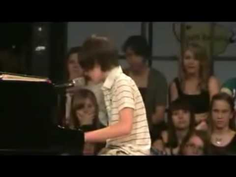 Greyson Michael Chance Boy Prodigy Plays Lady Gaga Paparazzi Like A Pro