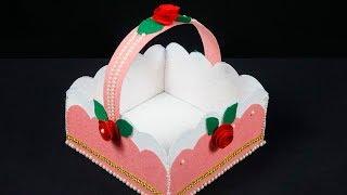 Diy Felt Basket | How to Make Easy Felt Basket For Chocolates | Christmas Gift Basket