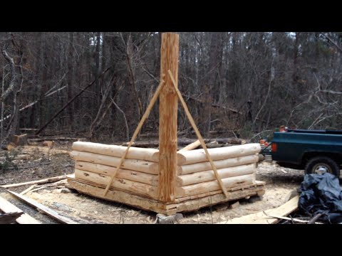 10' x 8' Log Cabin Episode 8 - The Walls (Part 2)