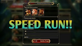 WAR OF CROWN - (PROVING GROUNDS OF FURY SPEED RUN!!)