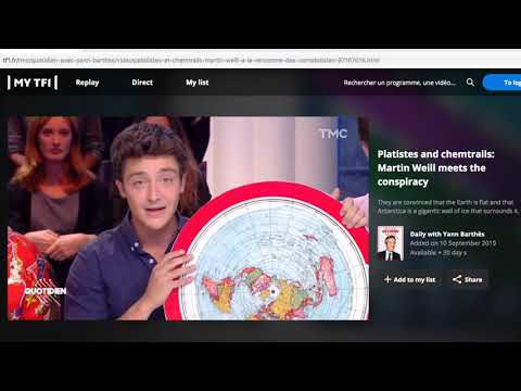 Martin Weill talks about the growing flat earth movement in the United States on French TV thumbnail