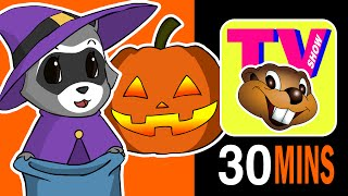 """Busy Beavers TV Show Halloween Special"" - Saturday Morning Cartoons, Baby Nursery Rhyme Television"