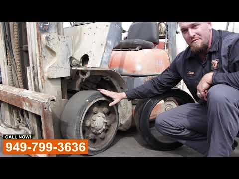 Forklift Tire Replacement - Видео онлайн