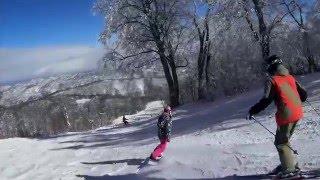 野沢温泉スキー コブ斜面でもぶれない驚きの映像(手持ちジンバル Z1-Rider2)