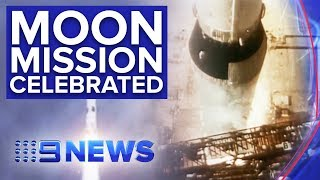 Apollo 11 astronauts reflect on 50 years since mission to moon | Nine News Australia