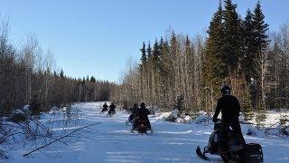 Snowmobiling in the Waskesiu & Area Wilderness Region, Saskatchewan