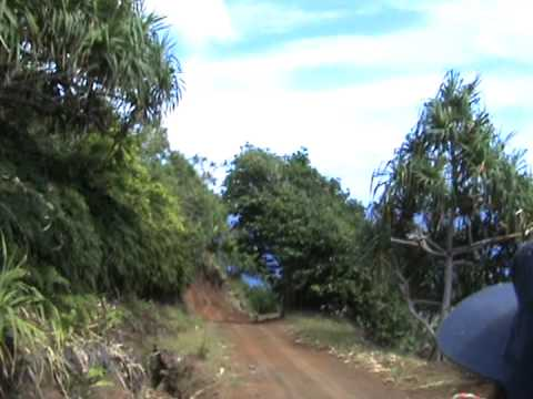 Driving around on Pitcairn Island