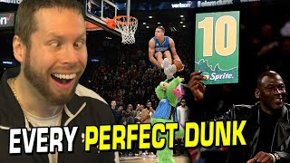 EVERY PERFECT DUNK in the NBA Dunk Contest