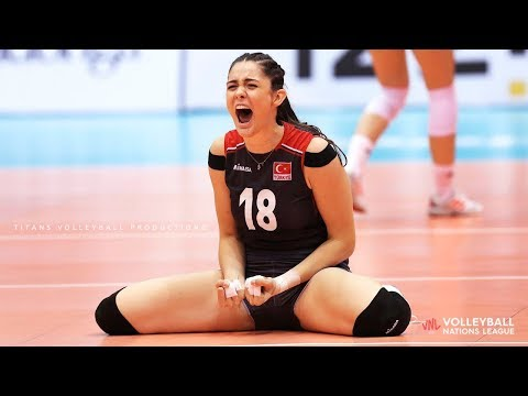 Zehra Gunes - Powerful Volleyball SPIKES | Women's VNL 2019