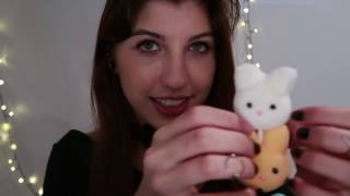 asmr eating and playing with sugary marshmallows
