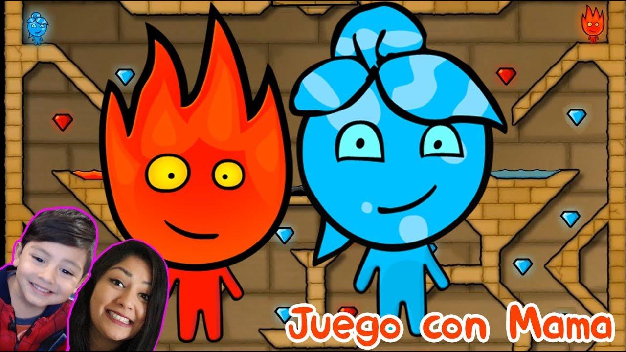 Fireboy and Watergirl Gameplay   Juego con Mamá   Videos para niños