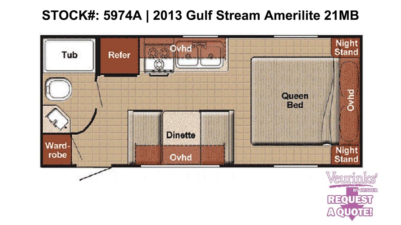 gulf stream amerilite 21mb used rear bath travel trailer 2013