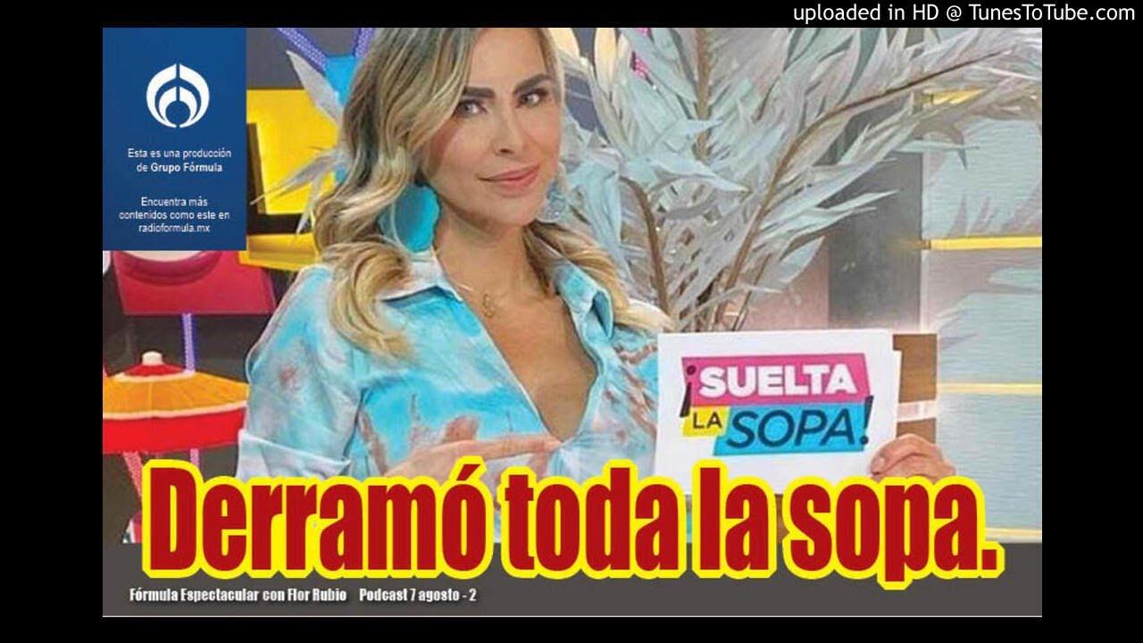 Aylín Mújica derramó toda la sopa. Fórmula Espectacular con Flor Rubio. 7/8-2