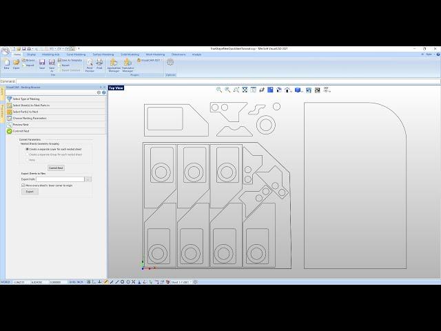 VisualCAD/CAM 2021 True Shape Nesting Quick Start