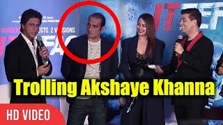 Shahrukh Khan And Karan Johar Trolling Akshay Khanna | Ittefaq Movie Press Conference