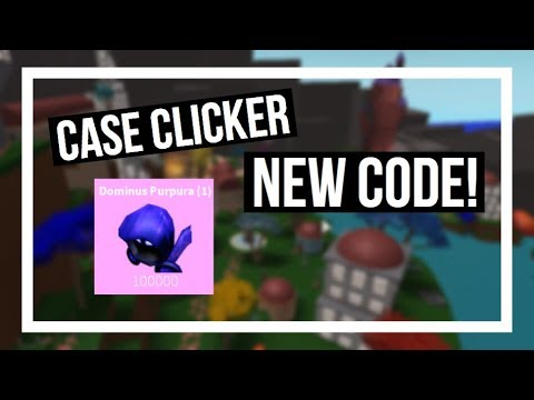 Case Clicker - NEW CODE! (Dominus Purpura)