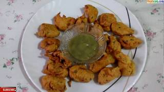 Aloo Pyaj Pakode - Aloo Kanda Sooji & Besan Ke Pakode Recipe in Hindi