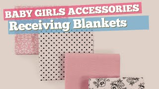 Receiving Blankets Best Sellers Collection // Baby Girls Accessories