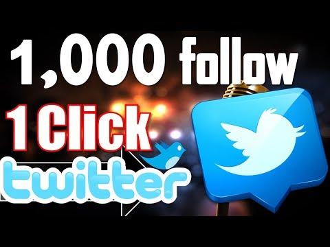 Best 1 Tricks To Make Followers in Twitter- 1Click Follow 1,000 | 100% Working Tutorial- #HT
