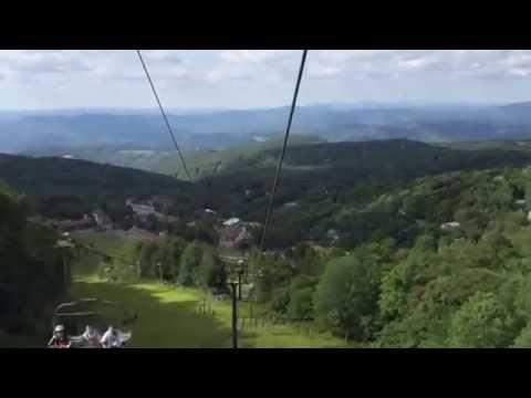 Beech Mountain NC Ski Lift Ride - Gorgeous Mountain View