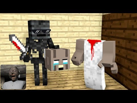 Monster School : GRANNY TROLLING HORROR GAME - Minecraft Animation