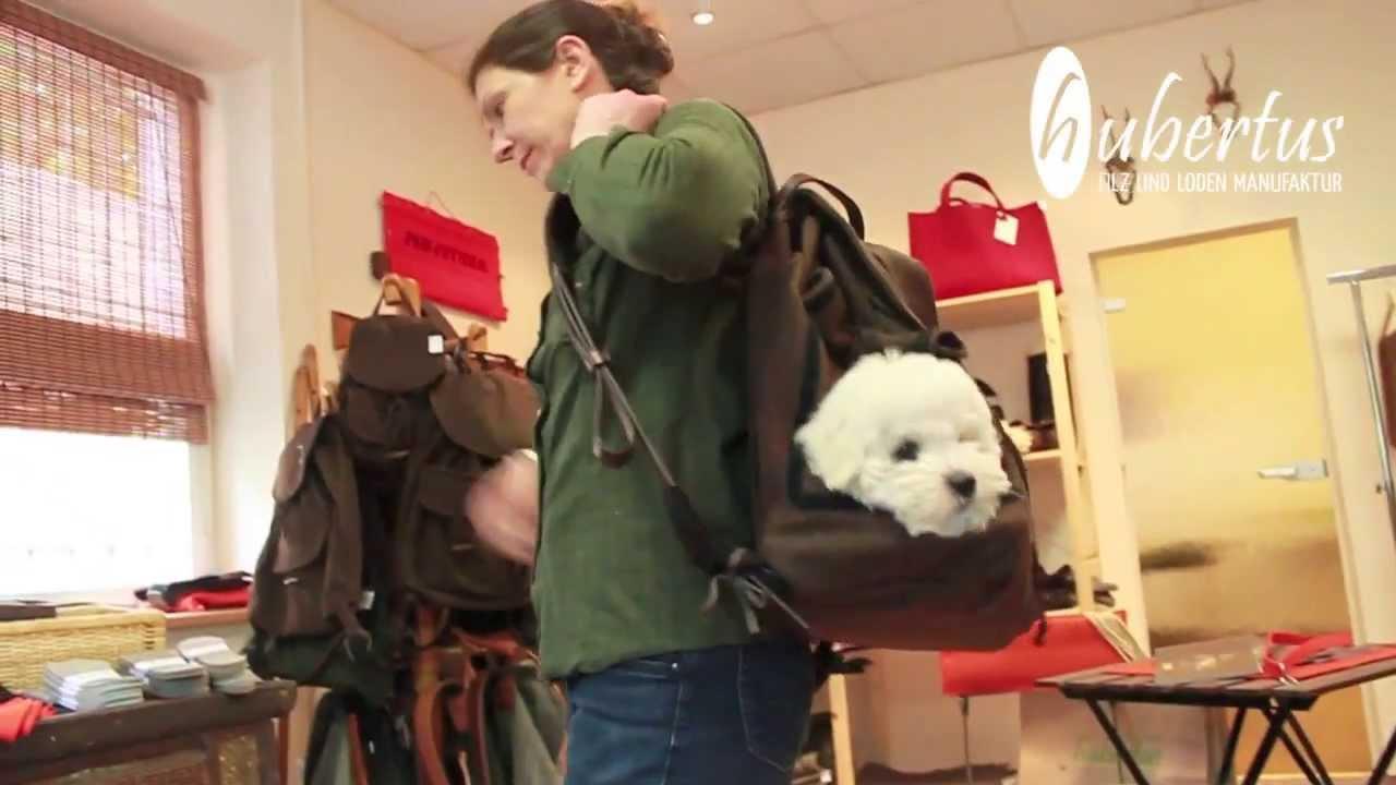 Hubertus GmbH - Hundetasche und Hunderucksack - YouTube