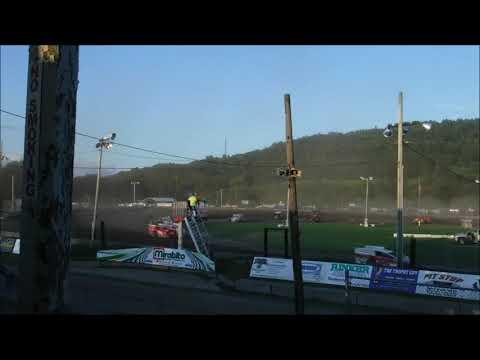 1. Justin Holland 2. Rusty Smith 3. Brandon Walters 4. Shaun Walker 5. Nick Nye. - dirt track racing video image
