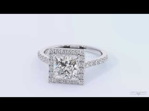 Princess Cut White Gold Diamond Engagement Rings