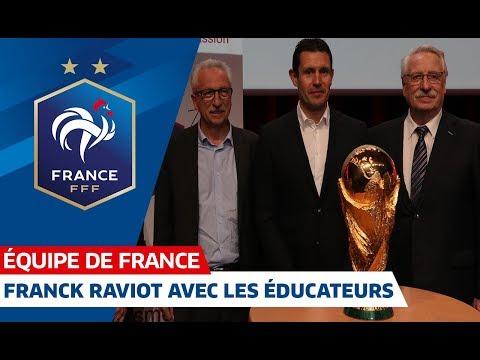 Franck Raviot avec les éducateurs à Beaune, Equipe de France I FFF 2018