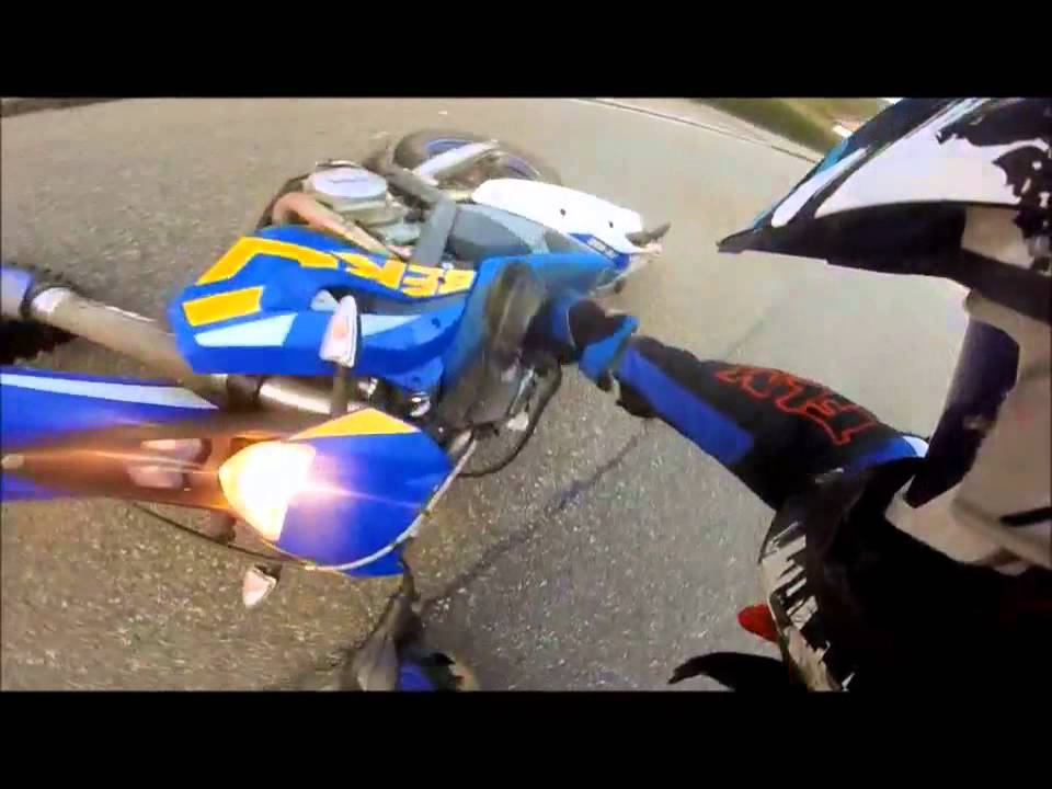 Husaberg Fe450 Wheelie fail Crash
