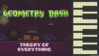 Geometry Dash - Theory Of Everything [Piano Cover]