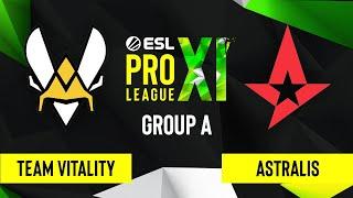 CS:GO - Astralis vs. Team Vitality [Overpass] Map 2 - ESL Pro League Season 11 - Group A