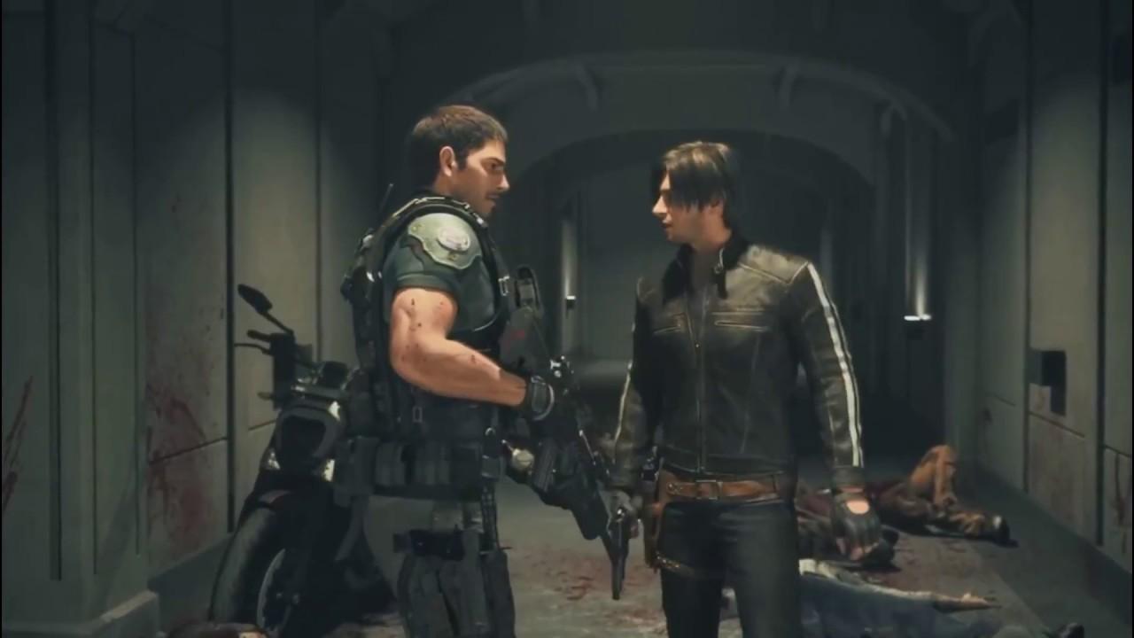 Resident Evil Vendetta Chris Y Leon Vs Zombies Youtube