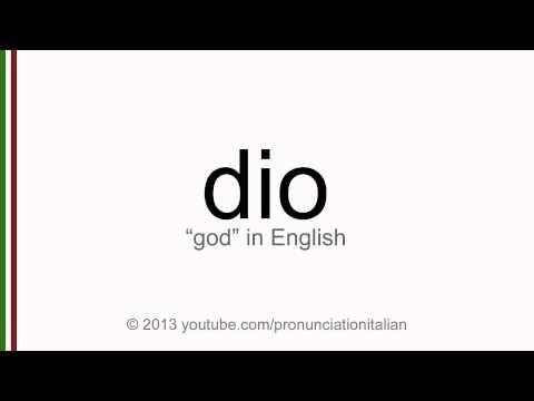 Correct italian pronunciation of dio, god