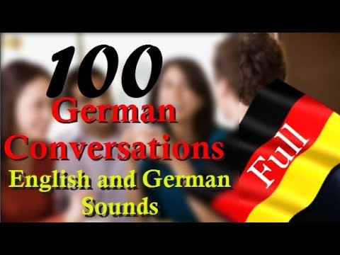 100 German Conversations │with English Sound│in One Video