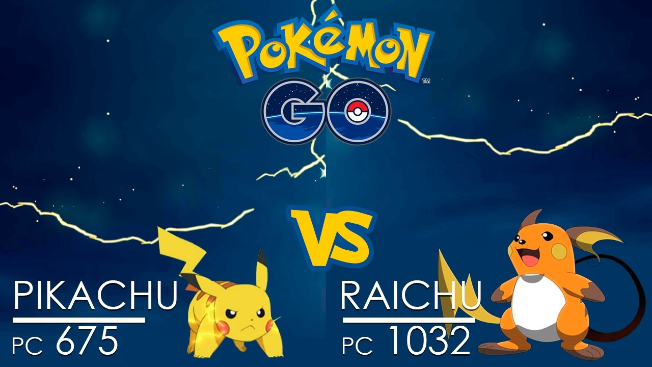 Pokemon GO Gym Battle THUNDER Pikachu Vs Raichu
