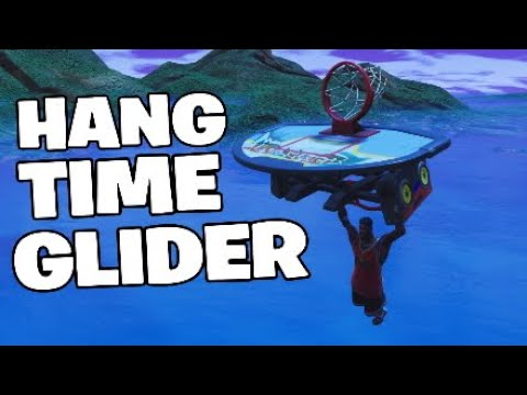 Fortnite New Glider Gameplay,HANG TIME - Basketball Glider Plays Music!