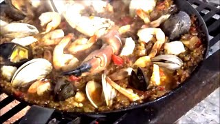 OPEN FIRE Seafood Paella with a Carbon Steel Pan
