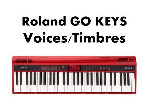 Roland Go:Keys GO - 61K (Sound Demo / Voices / Timbres)