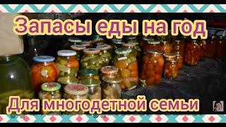 Запасы еды на зиму в многодетной семье//Продуктовые запасы, заморозка и консервация