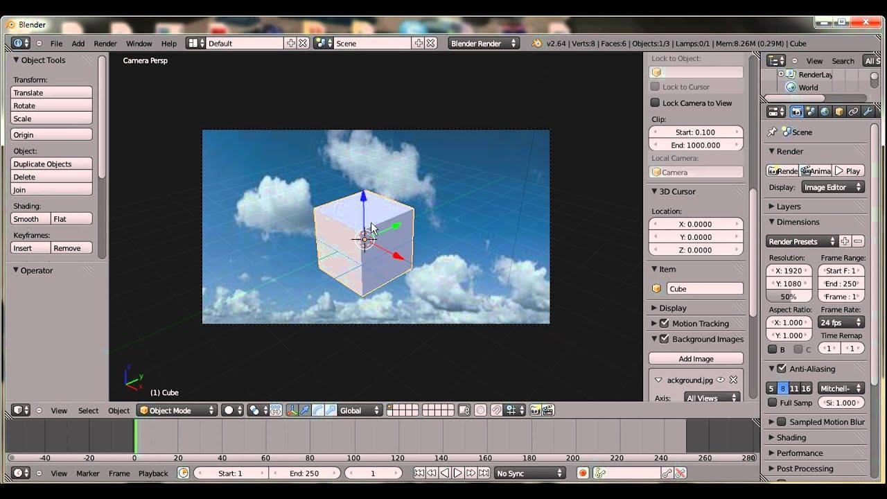 Background image not showing blender - Blender Background Tutorial